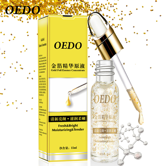 OEDO Shrink Pores Gold Hyaluronic Acid liquid Moisturizing Face Serum Whitening Plant Skin Care Anti Aging Anti Wrinkle Cream  4
