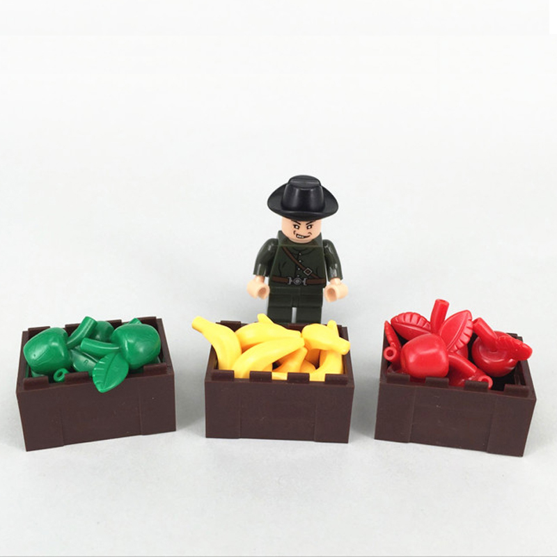 1 Set City Mini Street Garden Fruit Sale Dolls Plants Bush Tree DIY Block Brick Parts Compatible with Legoe Assemble Particles loz mini diamond block world famous architecture financial center swfc shangha china city nanoblock model brick educational toys