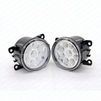 2pcs Car Styling Round Front Bumper LED Fog Lights DRL Daytime Running Driving For Acura ILX