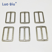 30pcs/lot Silver Iron plating Curve Tri-Glide Slider Adjustable Buckle for Bags Webbing suspender buckles