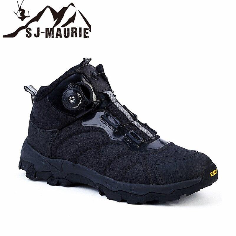Sj-maurie hommes Sports de plein air chaussures de randonnée chaussures tactiques militaires chaussures de randonnée imperméables antidérapantes chaussures de chasse pêche