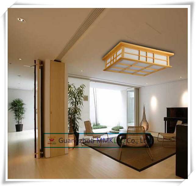 Japanese-style wood LED ceiling lamp Sheepskin cover Tatami bedroom living room study lamps White 45cm 20W AC200-240V determination of gps coordinates transformation parameters