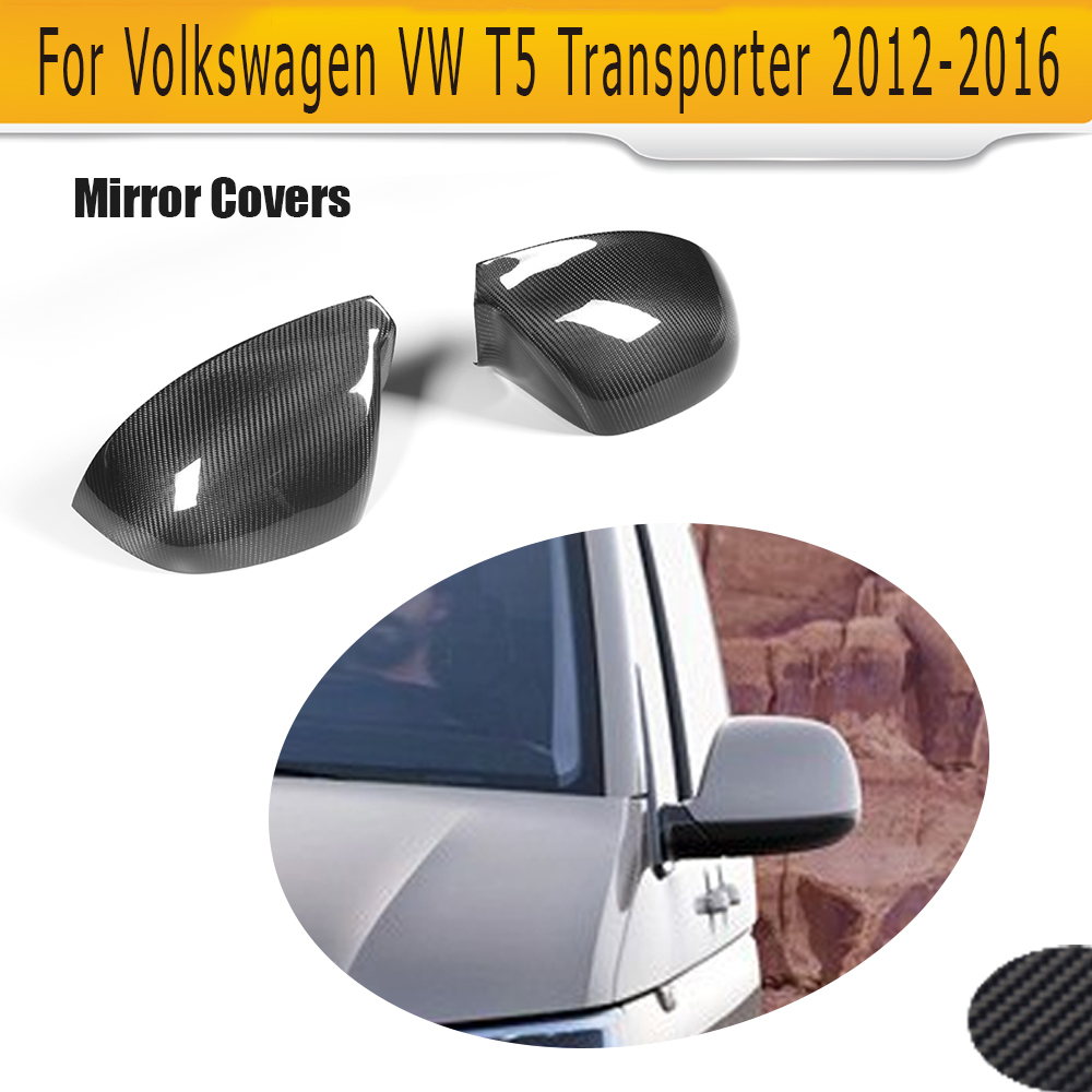 carbon fiber car side mirror covers trim fender for VW T5 Transporter 2012 - 2016 Add on Style for cadillac ats full add on style carbon fiber mirror covers 2014 2015