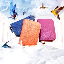 WESTLICHEN GÜNSTIGEN Frauen Visitenkarte Halter Rot Schwarz Blau Orange Unisex Karte Brieftasche Zipper Bank/ID/Kreditkarte halter Brieftasche