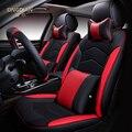 6D Styling Cubierta de Asiento de Coche Para Peugeot 206 207 2008 301 307 308sw 3008 408 4008 508 rcz, Alta-fibra, Cuero de Coche Cubre