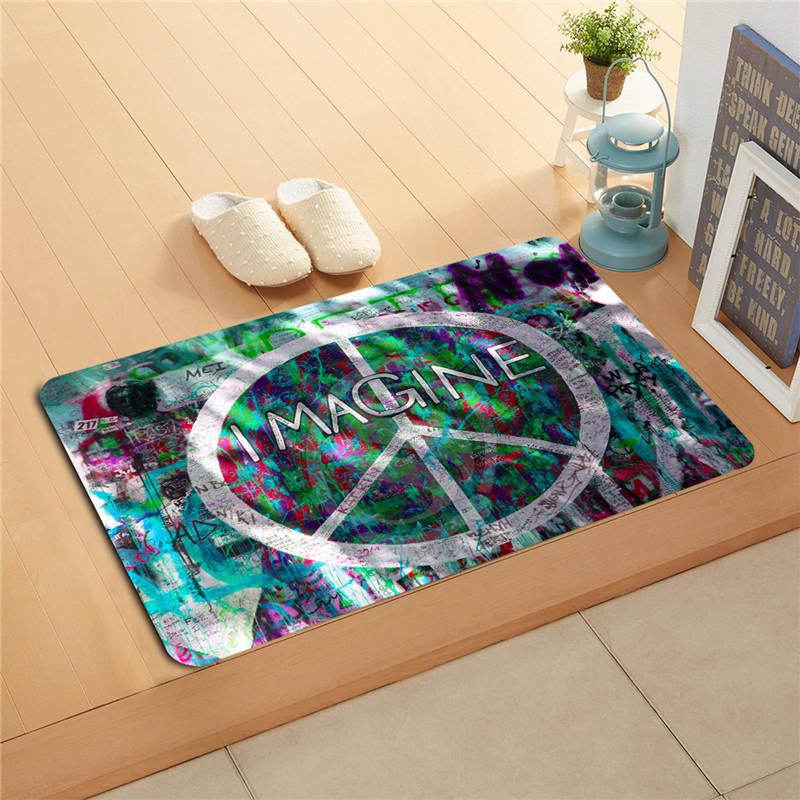 t#y66 Custom The patterns of the classic Doormat Home Decor Door mat Floor Mat Bath Mats foot pad #7.11-sd66