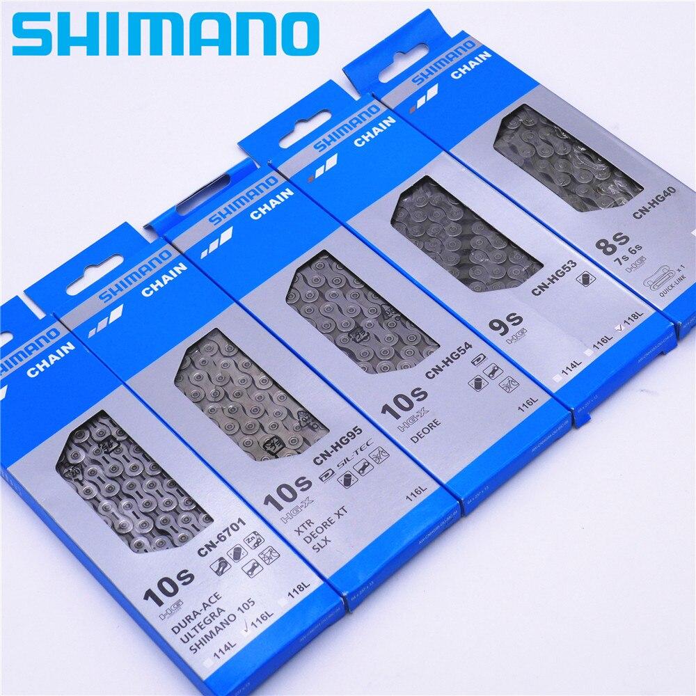 SHIMANO CN HG53/HG54/HG93/HG95/HG40 8 9 10 Geschwindigkeit Kette Mountainbike MTB Mit stecker Pin