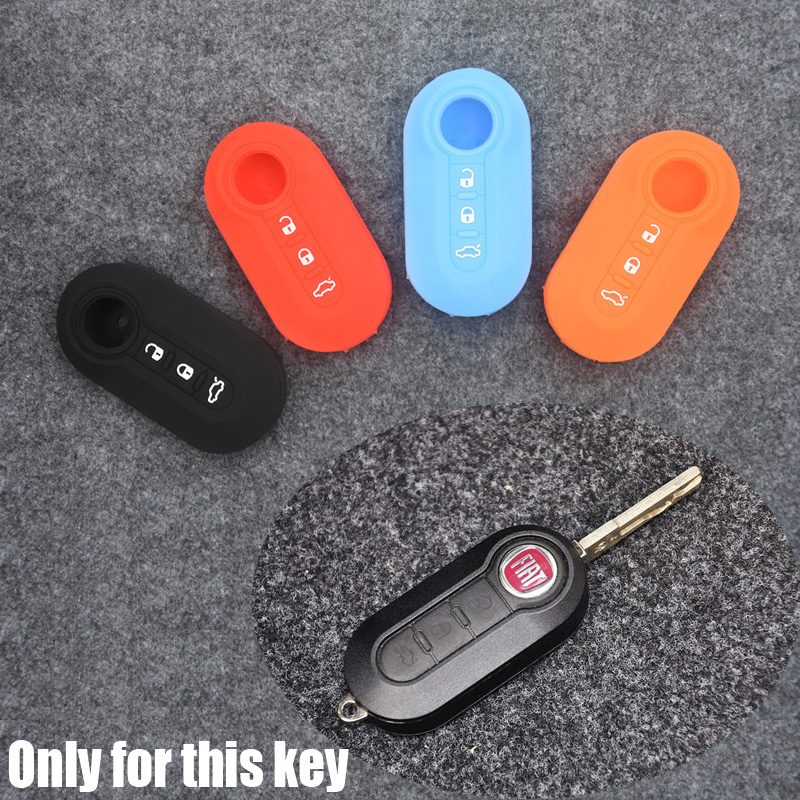 Hot Sell Silica Gel Key Cover Case For Fiat 500 Ect. 3