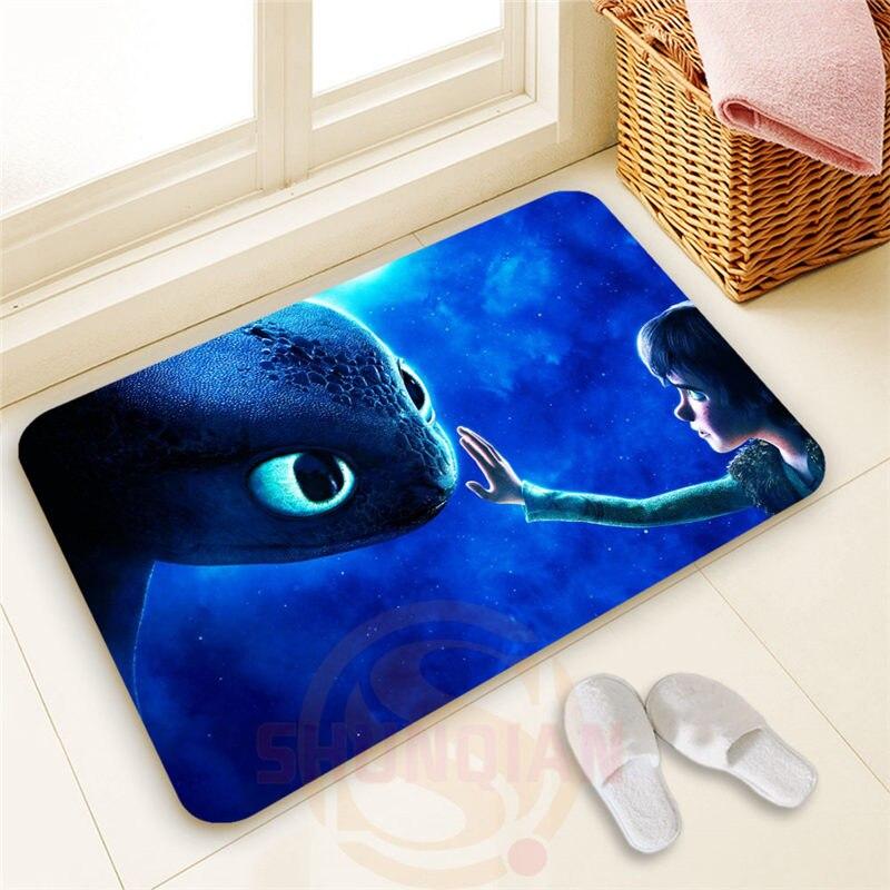 Top Design Custom how to train your dragon #2 Doormat 100% Polyester Home decor Non-slip Floor Mat Bath Mats#1031@22