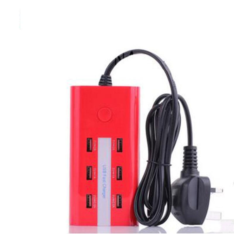 Prise US/EU/UK 6 Ports de chargement USB 5A prises murales secteur bande USB Hub bureau prise Standard maison électrique