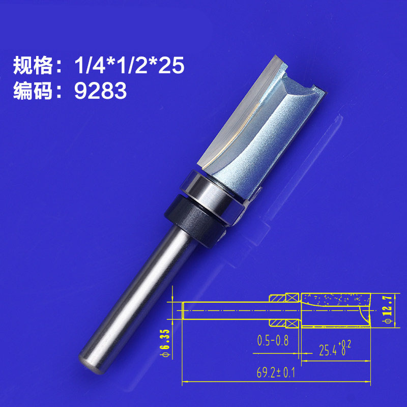 1pcs 1/8 Trimming Knife Woodworking Milling Cutter Tools  Wood Bearing Flush Trim 1/4*1/2*25mm ontario knife rat 1