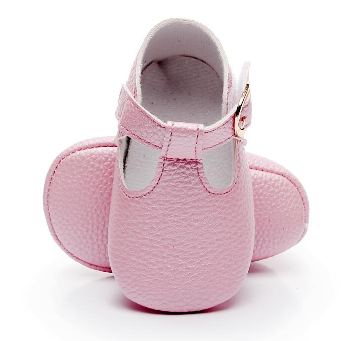 Newborn Baby Mary Jane Shoes Princess Ballet Shoes T-bar Style Baby Girl Shoes Soft Sole First Walker For 0-18M