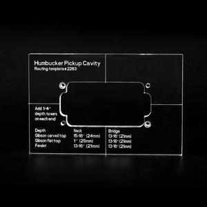 Image 2 - Musiclily Pro CNC Chính Xác Acrylic Humbucker Định Tuyến Bản Mẫu Cho Đàn Guitar Điện Cơ Thể