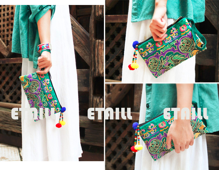 national embroidered clutches