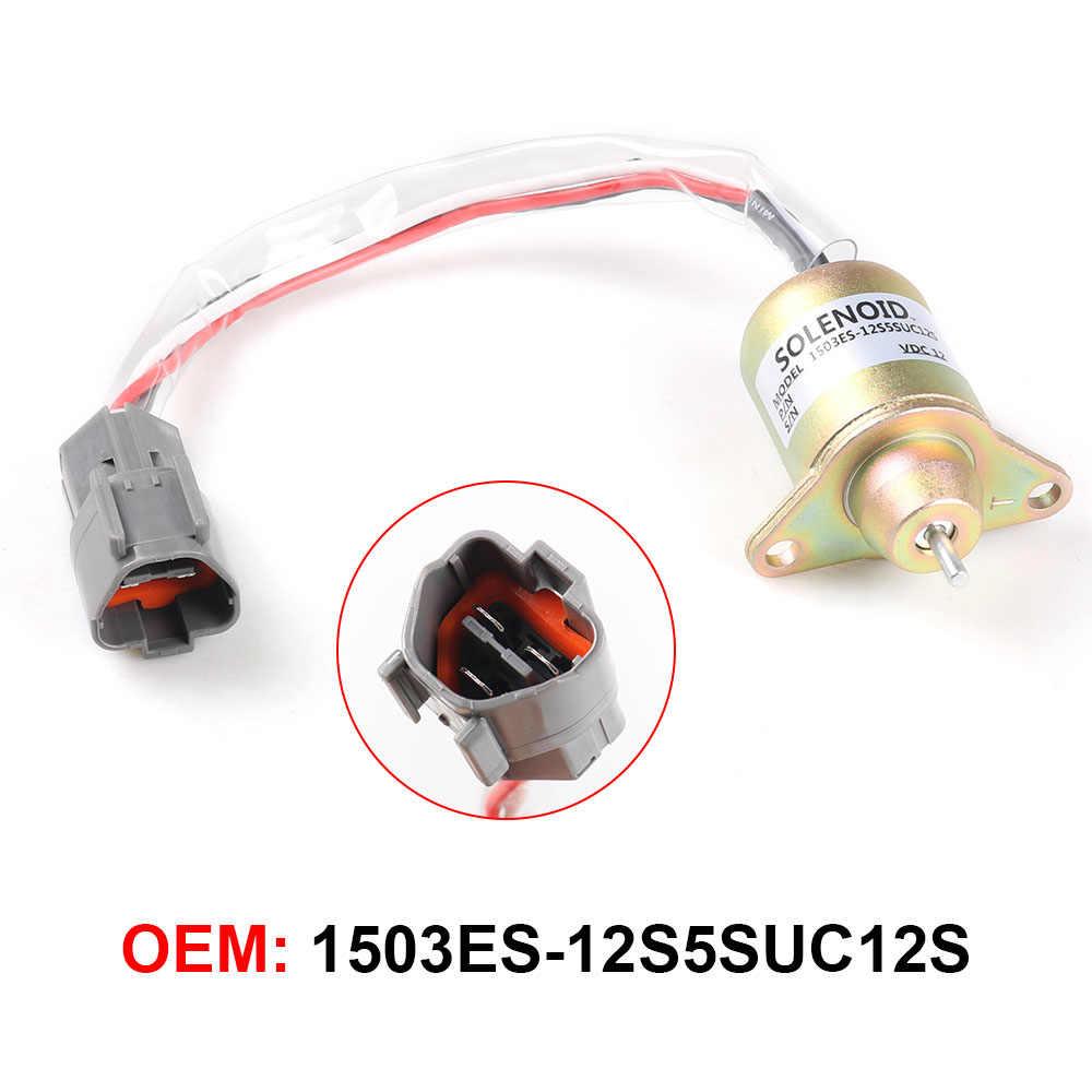 1PC 12 12v 車燃料シャットダウン電磁バルブ金属ヒュンダイ大宇小松交換するためヤンマー 11923377932 1503ES-12S5SUC12S