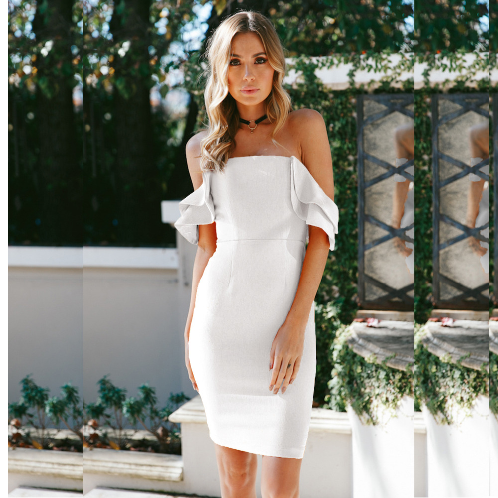 Lady 39 s Wrapped chest Backless Ruffles Dress for Beautiful women in Dresses from Women 39 s Clothing