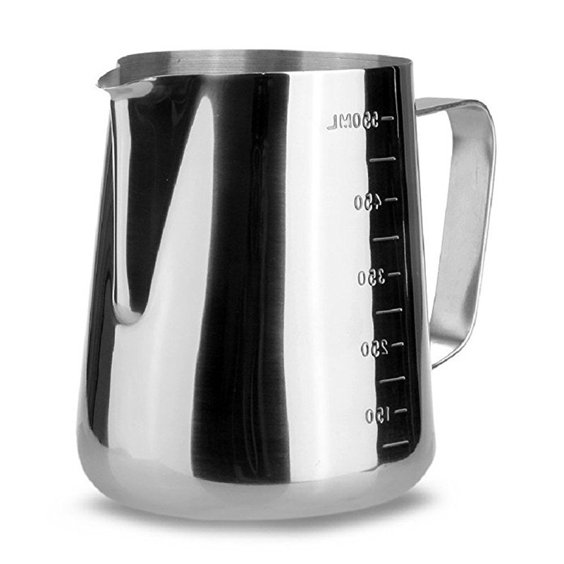 Stainless Steel Milk Frothing Jug Frother Coffee Latte Container Pitcher 3 Sizes