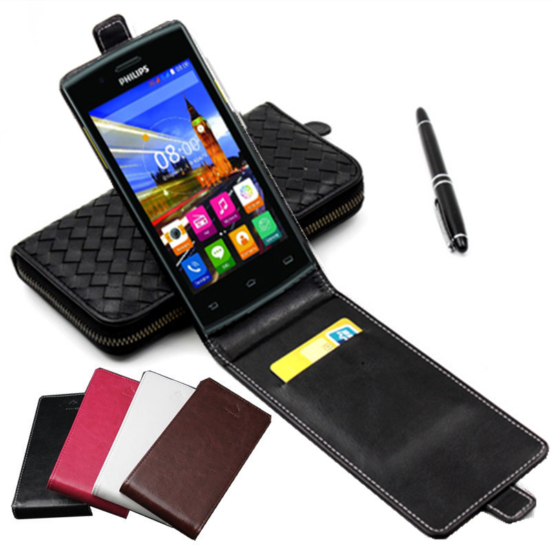 Classic Luxury Advanced Top Leather Flip Colorful Leather Case For Philips S307 / S 307 Phone Cases Cover With Card Slot