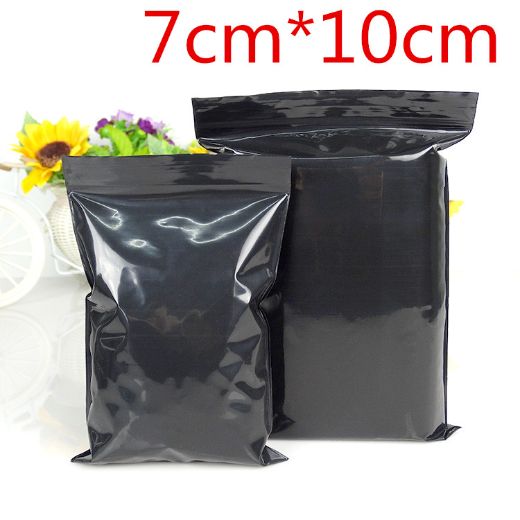 1500Pcs/Lot 7*10cm Self Sealable Ziplock Poly Packaging Pack Black Pouches Zip Lock Plastic Party Package Packing Bags DHL