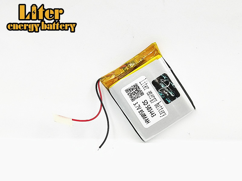1/2/4Pcs Size 503443 3.7V 850 mah Lithium polymer Battery With Protection Board For MP3 MP4 MP5 GPS DVD Toy LED Light Headphone