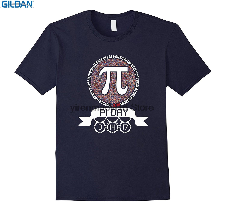 GILDAN 100% Cotton O-neck custom printed T-shirt 31417 Math Geek Nerd Graphic Pi Day 2017 T Shirt