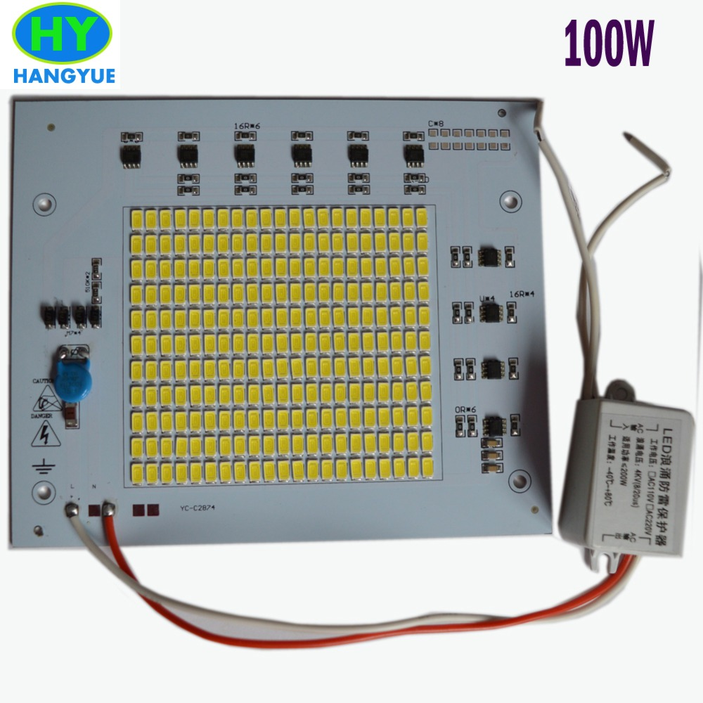 Led driverless PCB 10W 20W 30W 50W 100w 150w 200w projectine lamp aluminum plate flood light smd light source led lighting chip