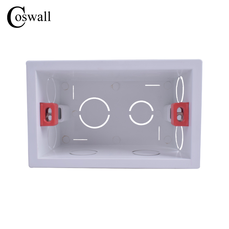 Coswall Super Quality 101mm*67mm US Standard Internal Mounting Box Back Cassette For 118mm*72mm Standard Wall Switch And Socket