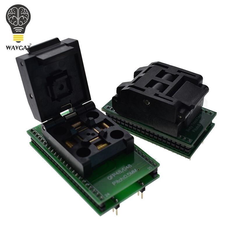 QFP48 à DIP48 TQFP32 QFP32 à DIP3 IC prise de Test 0.5mm Picth LQFP48 à DIP48 adaptateur de programmation/TQFP48 à DIP48