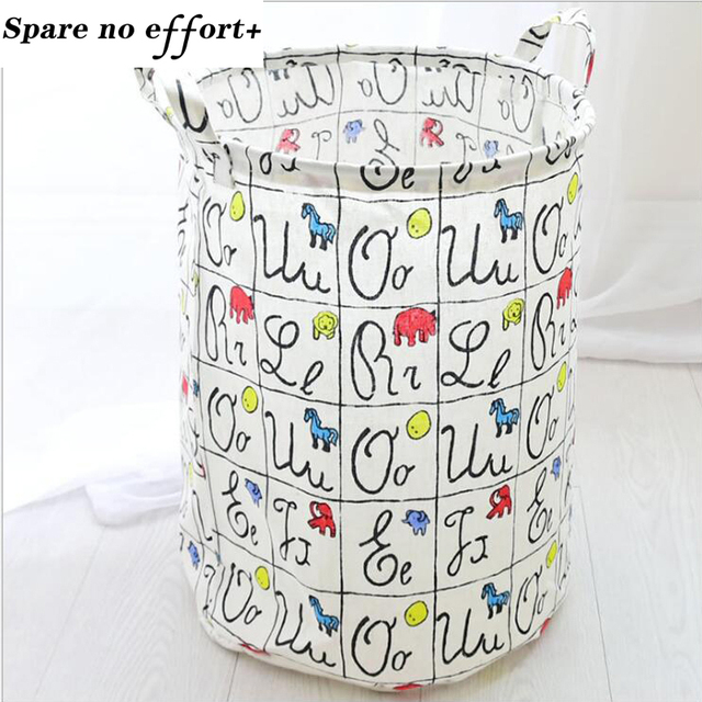 Washing Clothes Storage Fabric Basket Baby Toys Storage Barrel