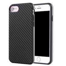 Импорт ТПУ Углеродного Волокна Чехол Для iPhone 7 5 5C 5S SE 6 6 S Плюс Ультра Тонкий Дышащий Вернуться Кожа Случае Обычная Капа Coque Shell