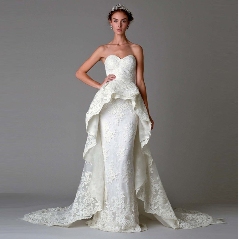 Detachable Cathedral Train Wedding Gown: Aliexpress.com : Buy Vivian's Bridal 2018 Fashion