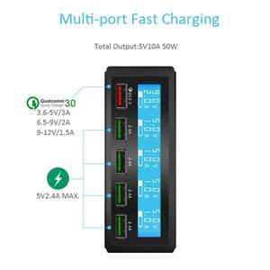 Image 2 - רב יציאת מטען 5 USB 5V8A מהיר תשלום 3.0 LCD להראות טעינה עבור iPhone iPad סמסונג Huawei Xiaomi נקסוס LG אספקת חשמל
