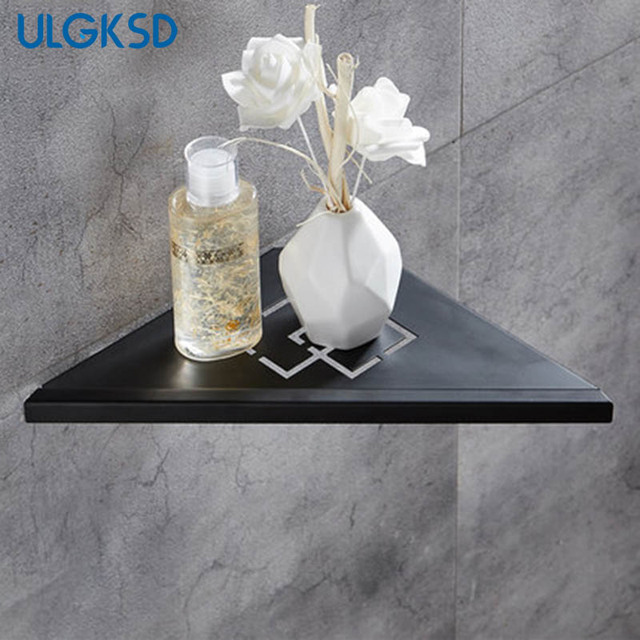 Ulgksd Bathroom Accessories Black Br Corner Shelf Para Bath Shelves Wall Mount Rack