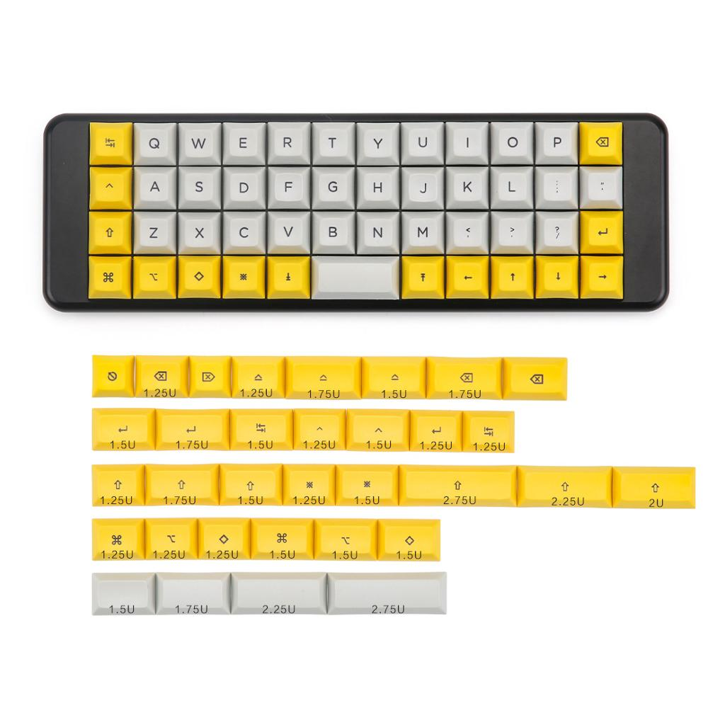 XDA 40 keycaps dye subbed keys for cherry mx NIU 40 mechanical keyboardKeyboards