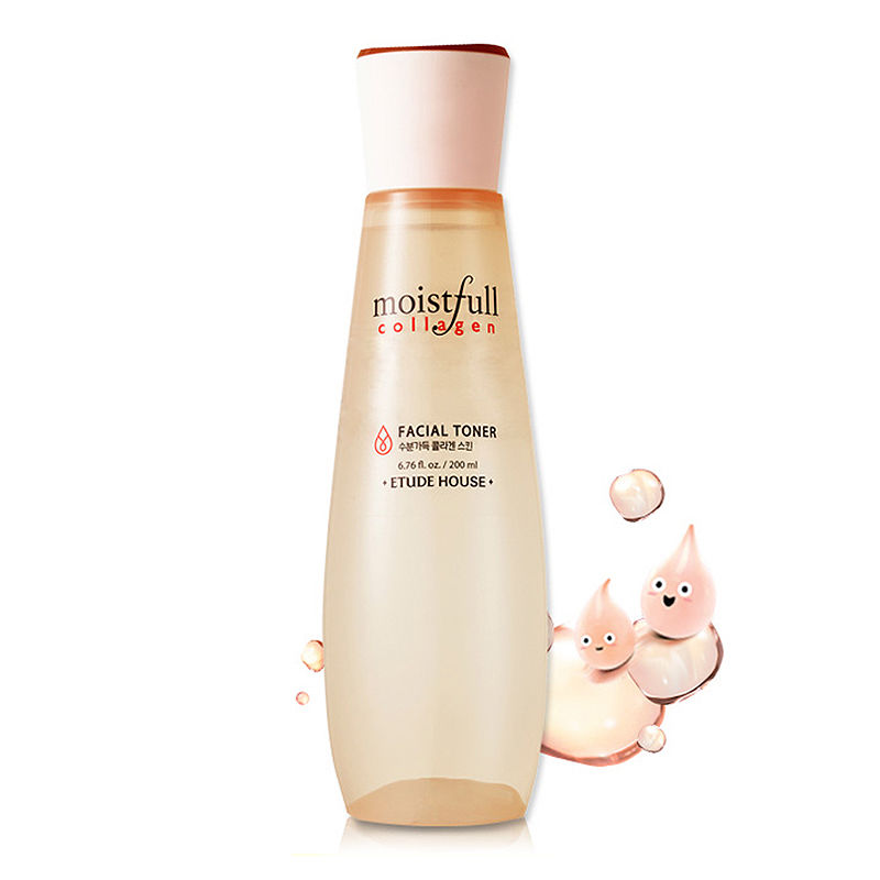 Korean Cosmetics Moistfull Collagen Facial Toner 200ml Makeup Water Smooth Facial Oil Control Pore Moisturizing