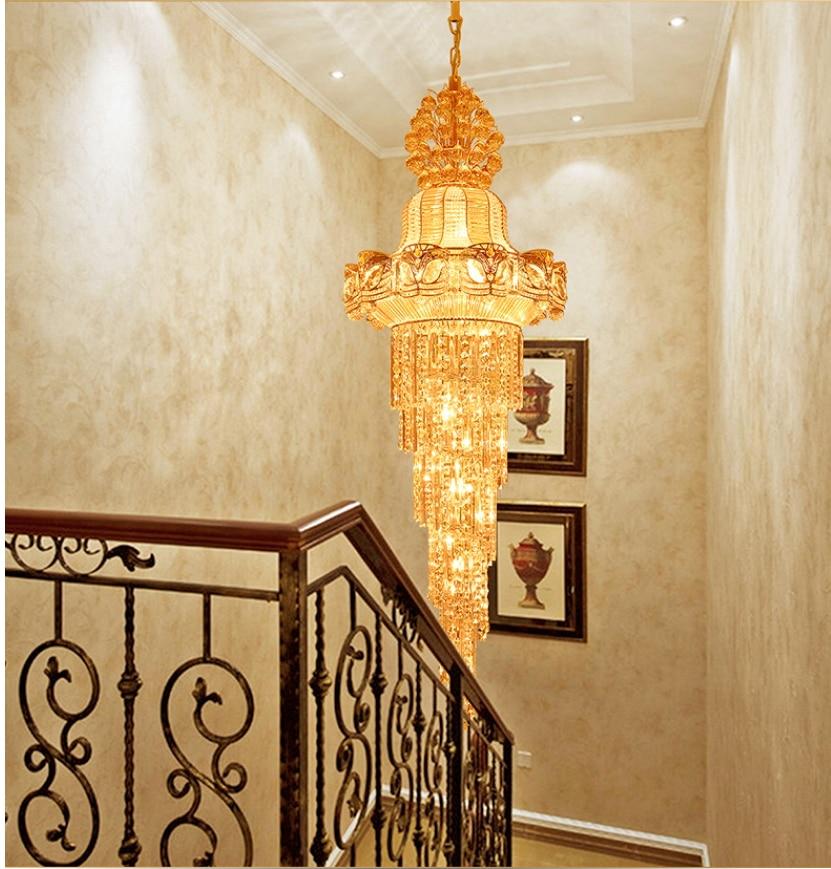 Faruri lungi de aur Lustre de cristal Lustre de cristal Luminărie - Iluminatul interior - Fotografie 4