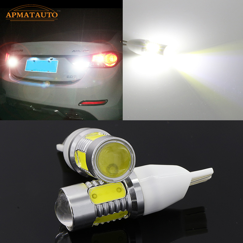 2x T15 W16W Plasma LED Projector Blub Tail Backup Reverse Rear Lights For Hyundai Tucson Sonata  Elantra  Accent  MOINCA  VERNA error free t15 socket 360 degrees projector lens led backup reverse light r5 chips replacement bulb for hyundai tucson