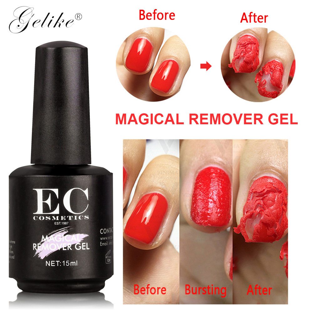 Gelike 15ml Fast Gel Remover For All Manicure Semi Permanent Nail Gel Polish Remover Cleaner Gel Varnish Remove Tool Glue