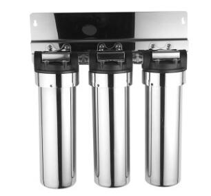 3/4 Port 3 stages 304 stainless steel 10 inches filter housing Water Filter Parts 10 stainless steel water filter housing for high temperature water filter system