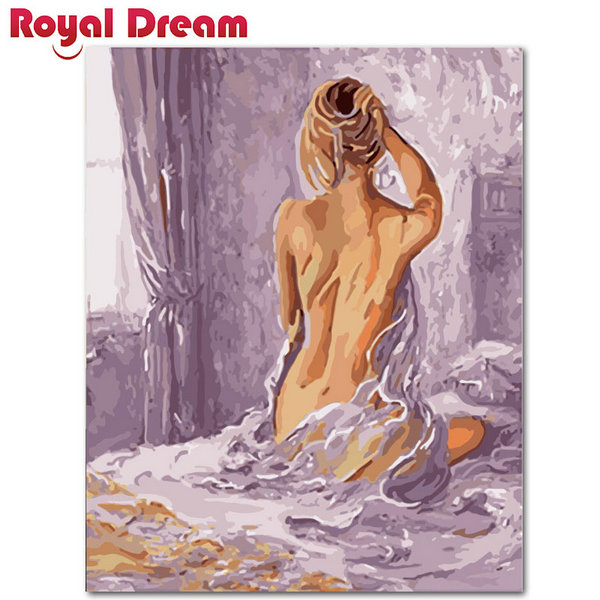 Purple nude lady Wall Photos DIY Oil Portray By Numbers Wall Artwork Acrylic Oil Canvas Work House Decor For Residing Room Portray & Calligraphy, Low-cost Portray & Calligraphy, Purple...