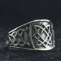 925 Silver Cool Vikings Slavic star of all Amulet Ring