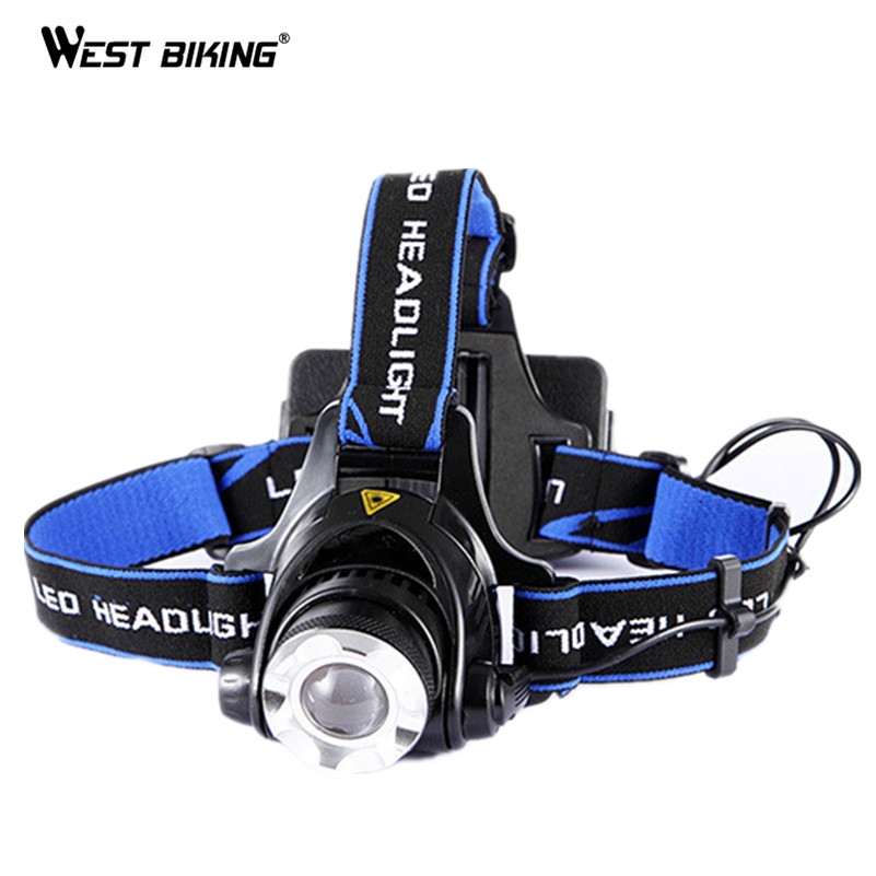 Westing Biking Bike Bicycle Front Light Bracket Headlamp LED Head Light Cycling Fashlight Camping Fishing Strong Cycling Light