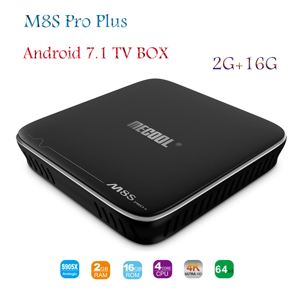 все цены на MECOOL M8S Pro Plus Android 7.1 TV Box Amlogic S905X 2G/16G HD 4K 2.4G WiFi Bluetooth 4.1 Smart Set Top Box Support Europe IPTV онлайн