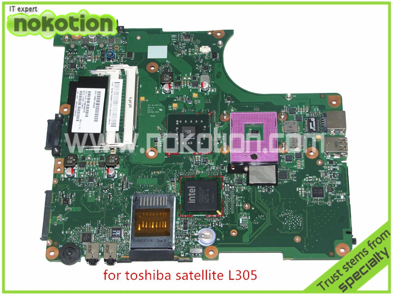 NOKOTION SPS V000138660 For toshiba satellite L300 L305 Motherboard  INTEL GL40 DDR2 6050A2264901-MB-A03 warranty 60 days nokotion for toshiba satellite a100 a105 motherboard intel 945gm ddr2 without graphics slot sps v000068770 v000069110