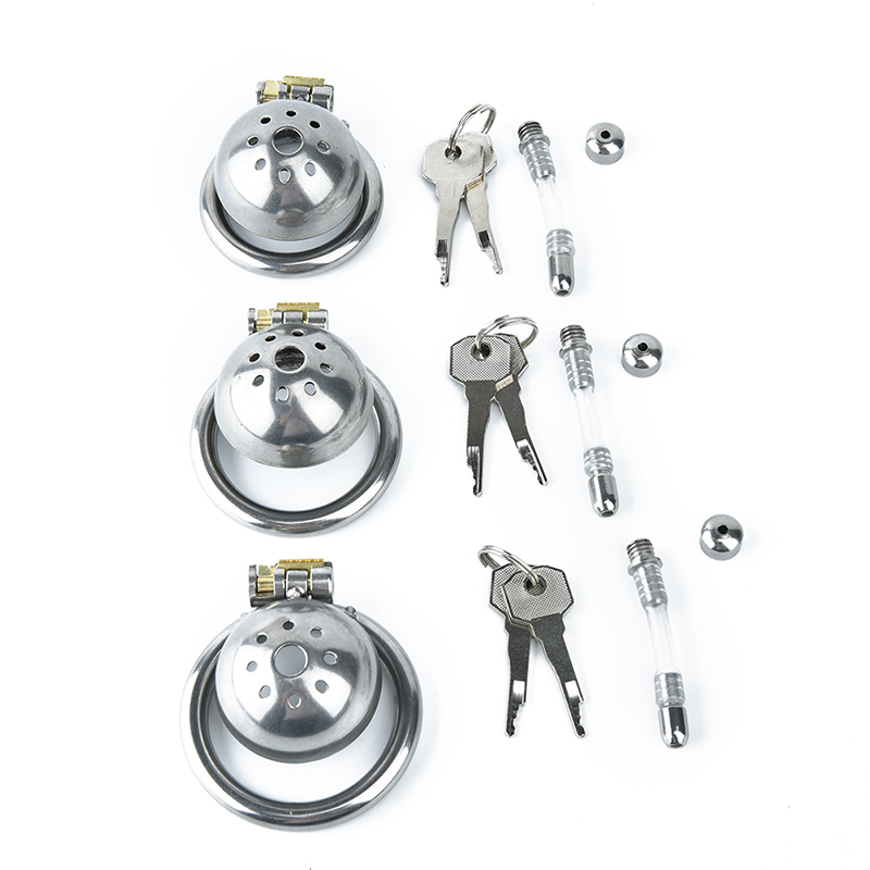304 Stainless Steel Male Chastity Device Super Small Short Cock Cage And Stealth Lock Ring Toy Prison Bird Party Supplies