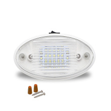 Car Ceiling Light 24LED Dome for 12V Caravan Van Yacht Boat Oval Interior Room