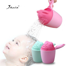 Baby Bath Caps Toddle Shampoo Cup Newborn Kid Shower Water Spoon Wash