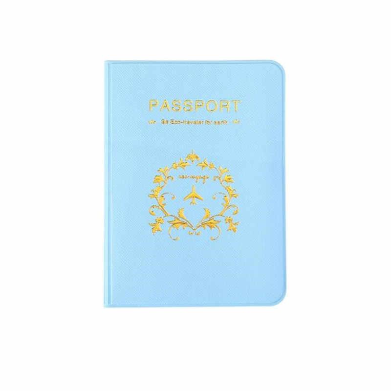 Casual Cuoio DELL'UNITÀ di elaborazione Del Passaporto di Coperture Accessori Da Viaggio ID Bank Sacchetto Della Carta di Credito Delle Donne Degli Uomini di Cassa del raccoglitore del Supporto Del Passaporto di Affari