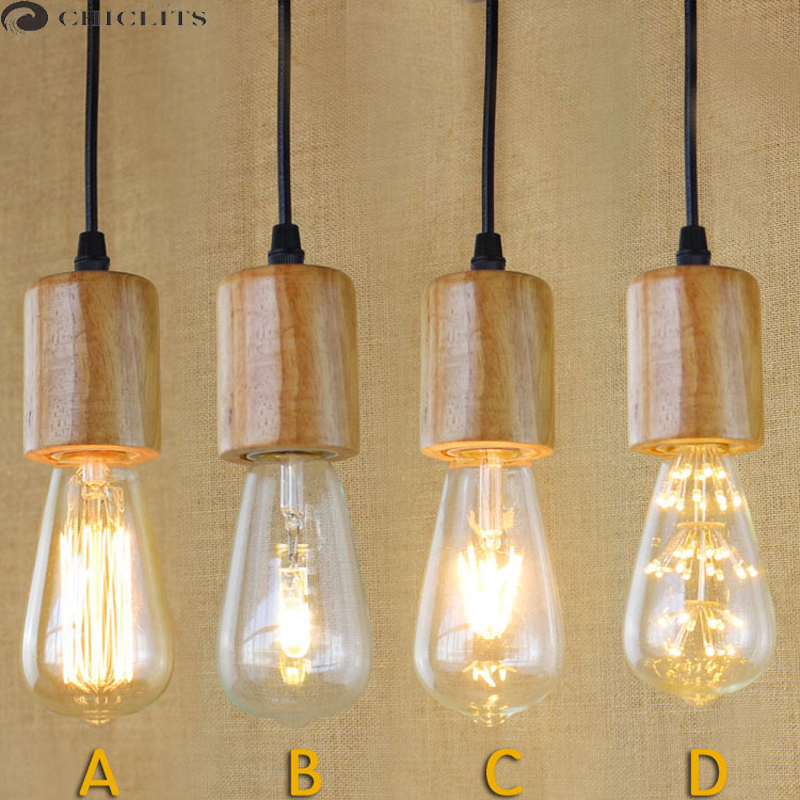 New Ampoule E27 Vintage Edison Filament Led Light Bulb ST64 40W 220V Lampe LED Incandescent Light Bulbs Yellow Lamp Home Lights
