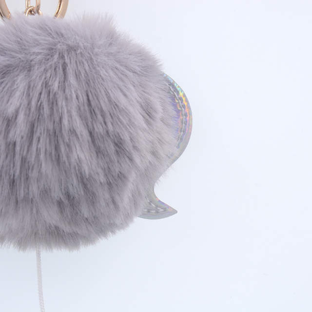 placeholder Opshineqo Cute Fluffy Unicorn Keychain fake Rabbit Fur Ball Pom  Pom Key Chain Bag Women Key 850db48203